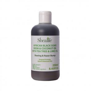African Black Soap, NEEM & COONUT OIL WITH TEA TREE & LIME OIL. Shaving & Razor Bump Formula, 250ml