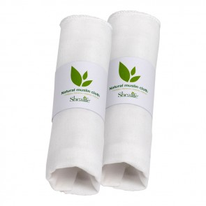 Muslin Face Cloth, Gentle Wash, Cleanse, Remove Make Up and Exfoliate, 100% Natural Egyptian Cotton. X 2 Units